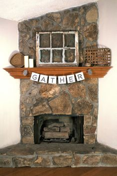 Budget friendly autumn decor for the fire place mantle/mantel in your living room! Gather around!