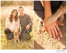ShutterChic Photography | Colorado Wedding Photography | Engagement Photos with Dogs | www.shutterchicphoto.com