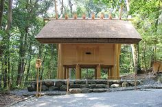 A recently constructed building at the Inner Shrine, Ise Grand Shrine.