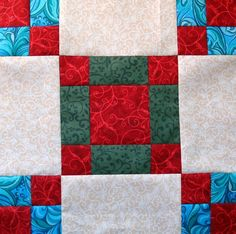 Classic Christmas Block One free pattern on Craftsy at http://www.craftsy.com/pattern/quilting/home-decor/classic-christmas-block-one/59818