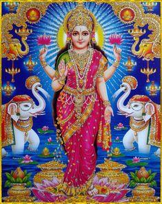 "☀ SHRI LAKSHMI DEVI ॐ ☀ ""O wife of Lord Vishnu, O internal energy of Lord Vishnu, you are as good as Lord Vishnu Himself, for you have all of His qualities and opulences. O goddess of fortune, please. Lord Vishnu, Lord Ganesha, Lord Shiva, Indian Goddess, Goddess Lakshmi, Shiva Art, Hindu Art, Indiana, Gayatri Devi"