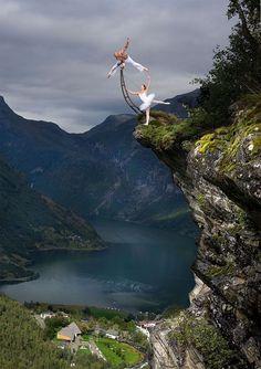 Ballet: Not What You Expected. Photo here of daredevl Eskil Rønningsbakken