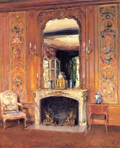 Walter Gay - The Library, Courances