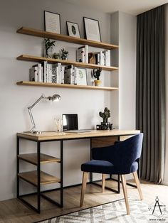 Want to know how to assemble a perfect home office? So, see our tips on how to decorate and organize home office for comfort and productivity. Home Office Setup, Home Office Space, Home Office Desks, Home Office Furniture, Office Decor, Office Ideas, Apartment Office, Home Offices, Home Office Table