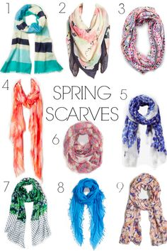 Fashion Friday: Scarves for Spring- Must-Have Spring Scarves