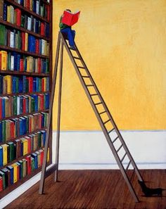 Happiness is having so many books you need a ladder!