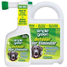 Simple Green® Outdoor Odor Eliminator - People and pet friendly non-toxic formula eliminates pet odors in outdoor spaces! #SimpleGreen