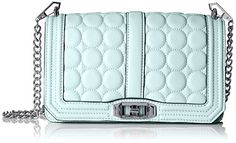Women's Cross-Body Handbags - Rebecca Minkoff Love with Circle Quilt Cross Body Light Mint One Size *** Check this awesome product by going to the link at the image.
