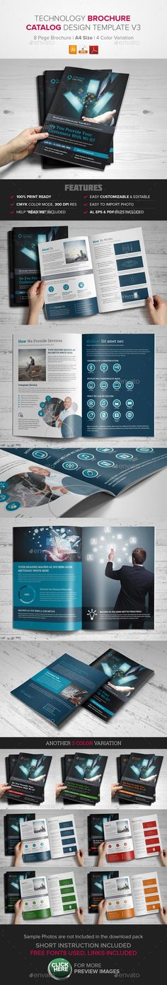 Bundle - Brochure Indesign Template Indesign templates - technology brochure template