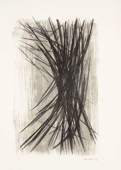 """""""L10"""" by Hans Hartung (Lithograph on paper, 1957)"""