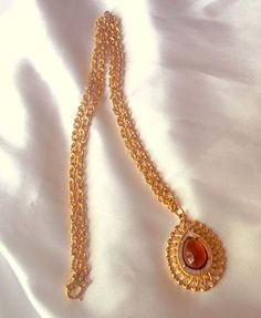 Vintage Sarah Coventry Necklace Amber and Gold by Ladysfancys, $15.00 #vjse2 #vintage #jewelry #boebot #brides