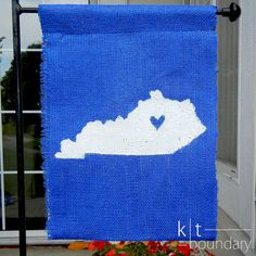 Kentucky Burlap Garden Flag  - these would be cute - do red and blue ones
