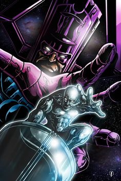 Silver surfer artwork