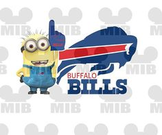 MINION PRO FOOTBALL Fan - Buffalo Bills, Buffalo Sabres - Digital File - Choose Your Pro Team Printable to Create Iron ons for Shirts! But vikings!
