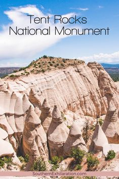 New Mexico has some pretty incredible hiking opportunities, and Kasha-Katuwe Tent Rocks National Monument is famous for its scenic cone-shaped formations. #NewMexico #NationalMonument Rio Grande Valley, Southwest Usa, Sea To Shining Sea, Day Trip, New Mexico, Where To Go, Travel Usa, State Parks, Places To See
