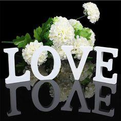 1 14xwooden Bois Lettre Alphabet Mot Debout Libre De Mariage Partie Décoration de La Maison Livraison Gratuite