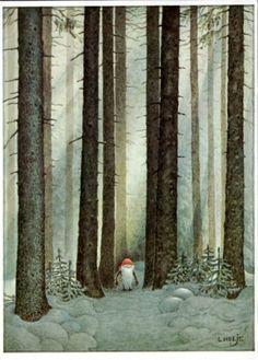 by Lennart Helje Art And Illustration, Christmas Illustration, Scandinavian Art, Scandinavian Christmas, Fairytale Art, Magical Creatures, Whimsical Art, Christmas Art, Faeries