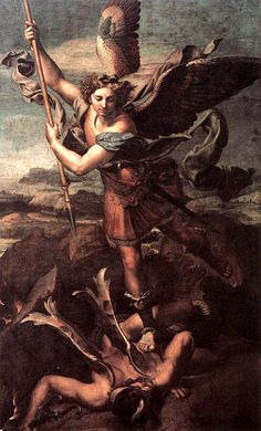 St Michael and the Satan by Raphael Sanzio, 1518