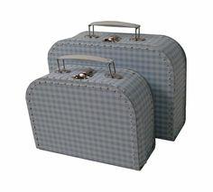 grey suitcases