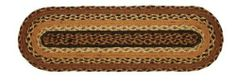 """Harvest Time Jute Stair Tread Oval 8.5x27"""" by Victorian Heart. $11.20. All cloth items in our collections are 100% preshrunk cotton. All braided items (like rugs, baskets, etc.) are 100% jute. High end quality and workmanship!. Extensive line of matching items and accessories available! (Search by Collection name). See Product Description below for more details!. Product measurements and additional details listed in title and/or Product Description below.. 100% Jute"""