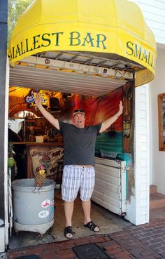 the smallest bar in the world in one of the greatest places in the world. key west, fla. photo by full circle fotography.