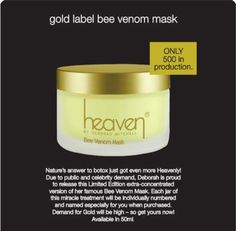 Heaven Gold Label Bee Venom Mask http://qbeautywellness.com/index.php/heaven/heaven-gold-label-bee-venom-mask-50ml.html