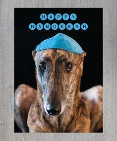 Greyhound Hanukkah Card