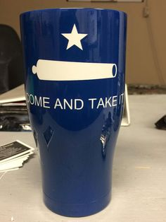 Historic Texas Flag designed Orca Chaser by LonestarHydrographic on Etsy Republic Of Texas, The Republic, Custom Yeti, Texas Flags, Texas Pride, Custom Cups, Lone Star State, Custom Tumblers