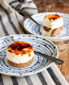 Gek op zoet? Dan moet je deze mini cheesecake brûlée bites echt eens proberen