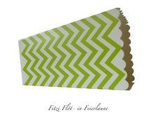 Dekoration - Popcorn Box Party Box Snack Box 6er Set grün - ein Designerstück von Fitzi-Floet bei DaWanda