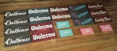 4-19-2015 SDV www.etsy.com / shop / uniqueprimtiques #customcolors #customsizes www.uniqueprimtiques.com Working on more signs while watching tv & movies with Melissa and the kids on a rainy afternoon.  #homedecor #rustic #primitive #rusticdecor #primitivedecor