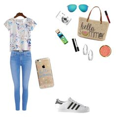 """""""Welcome summer"""" by dua-1 on Polyvore featuring Paige Denim, Straw Studios, Sony, Victoria Beckham, Gucci, Smashbox, Milani, Robert Lee Morris, adidas and Agent 18"""
