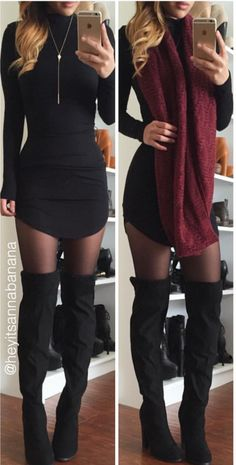 Mock Neck Bodycon Dress