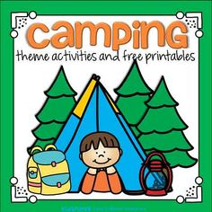 Camping theme activities, centers, printables and games to make that can be used considering planning endeavors and curriculum for preschool, pre-K and . -- Browse image for more details. Camping Theme Crafts, Camping Activities For Kids, Camping With Toddlers, Preschool Activities, Preschool Camping Theme, Camping Theme For Classroom, Free Preschool, Preschool Curriculum, Homeschool