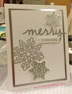 Jill's Card Creations: Silver Christmas
