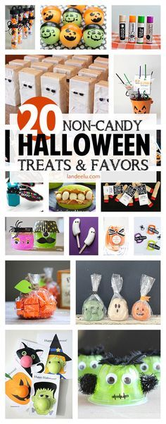 Awesome ideas for Halloween treats and favors with no candy!  Great for class parties!