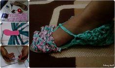 anyaman kantong plastik berwarna#sepatu#teman kaki melangkah