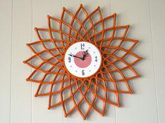 Syroco orange clock