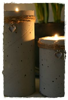 concrete candle holders -diy Concrete Cement, Concrete Crafts, Concrete Projects, Concrete Candle Holders, Diy Candle Holders, Fun Crafts, Diy And Crafts, Objet Deco Design, Papercrete