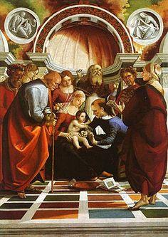 Signorelli - La Circoncisione è un dipinto a tempera su tavola, trasportata su tela e infine riapplicata su tavola (259x181 cm), di Luca Signorelli, databile al 1490-1491 circa e conservato nella National Gallery a Londra.