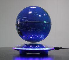 how to make the magic magnetic floating globe float, Funny C Shape Magnetic Levitation Floating Globe World Map with Colored LED Light Floating Globe, Magnetic Levitation, Levitation Photography, Magnets, Room Ideas, Led, Toys, Futuristic, Illusions