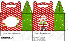 Caixa Surpresa para Lembrancinha Natal Vermelho e Verde