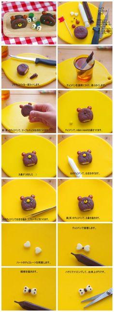 how to make chocolate pie bear