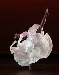 Alvin Ailey dancer - this piece is called 'Cry' originally performed by Judith Jamison and created for her by Mr. Ailey. Breathtaking when I saw her perform it - years ago.