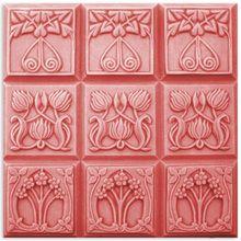 Tray-Nouveau Flowers Soap Mold