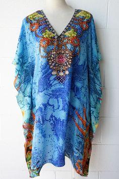 Santa Maria Silk Kaftan  outfit  outfitidea  beaded  kaftan  embellished   summer  style  bluebungalow  beach  wedding  holiday 984e530617