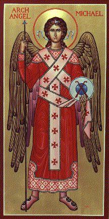 Imagen de San Miguel según se representaba en la iglesia ortodoxa primitiva