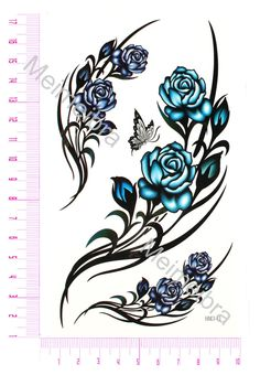 Waterproof Tattoos Chinese Rose Colored Flowers View Details