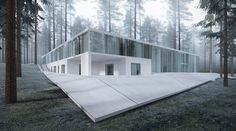3d visualisation of contemporary residential in Maindorf village.
