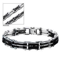Black IP H-Link Reversible Bracelet